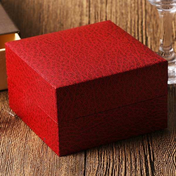Luxury High Quality Watch Box Luxury Red Package Case Single Watch Boxes and Packaging Organizer with Foam Pad For Jewelry