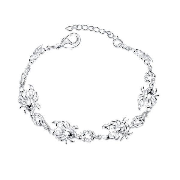 Free shipping !Scorpion Bracelet sterling silver plated bracelet SPB449;high quatity fashion men and women 925 silver Charm Bracelets