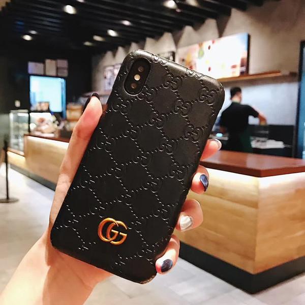 Luxo phone case para iphone x xr xs max 7 7 plus 8 8 plus couro hard case designer para samsung note9 s9 s9plus s8 s8plus note8