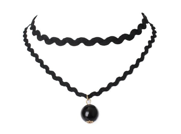 top popular New Simple Collar European And American Jewelry Women Choker Combination Necklace Suit Decorations With Lace Necklace Sets Wholesale 2020