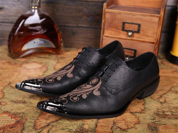 Man's Fashion Shoes brockden carved vintage fashion pointed toe shoes desinger man's shoes leather!
