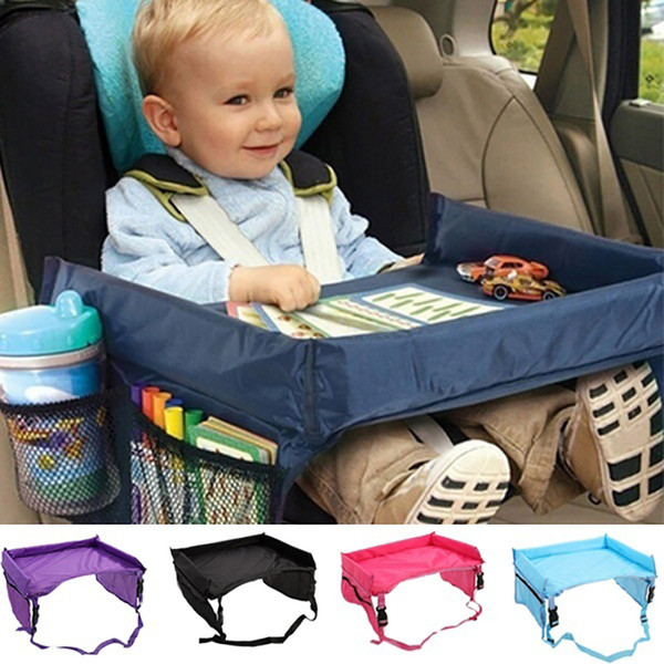 best selling Children Toddlers Car Safety Belt Travel Play Tray waterproof Table Baby Car Seat Cover Harness Buggy Pushchair Snack c538