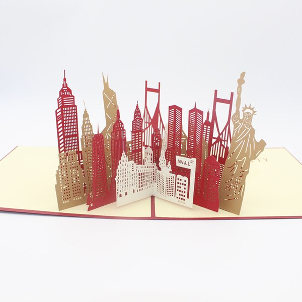 Laser cut 3d greeting cards coupons promo codes deals 2018 get 10 pieces lotfree shipping 3d pop up kirigami laser cut travel memorial postcard famous city new york silhouette greeting card m4hsunfo