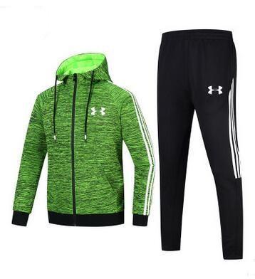 Outono e inverno novo de duas peças de alta qualidade LOGOTIPO dos homens sportswear com capuz camisola cardigan roupas de fitness