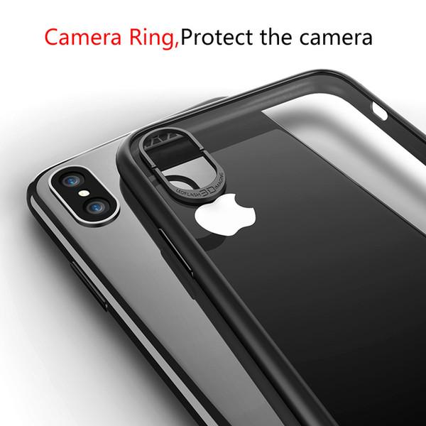 Ясные случаи телефона,гибкая задняя мягкая сторона цвета силикона защищают случай для iPhone X Яблока