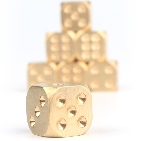 Bar game tool Brass dice Pure copper solid dice Hand polished Bar supplies Craps or play blackjack Drinking More fun.