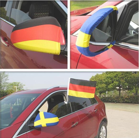 best selling 2018 World Cup National flag Car Side View Mirror Cover Rear View Wing Side Mirror Sleeve Soccer Fans Gift Accessories
