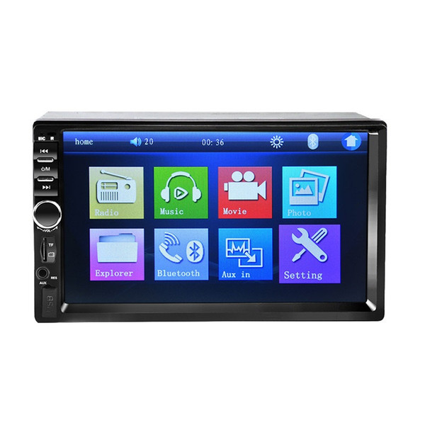 7 inch Touch Screen MP4 Bluetooth 2.0 Radio Audio Stereo Player Hands free MP5 Music Player TF/SD MMC USB FM with camera