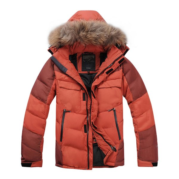 37b13015823 2018 New Arrival Men Down Jacket Winter Down Coat 80% White Duck Real  Raccoon Fur Thicken Winter Jacket Mens Clothing