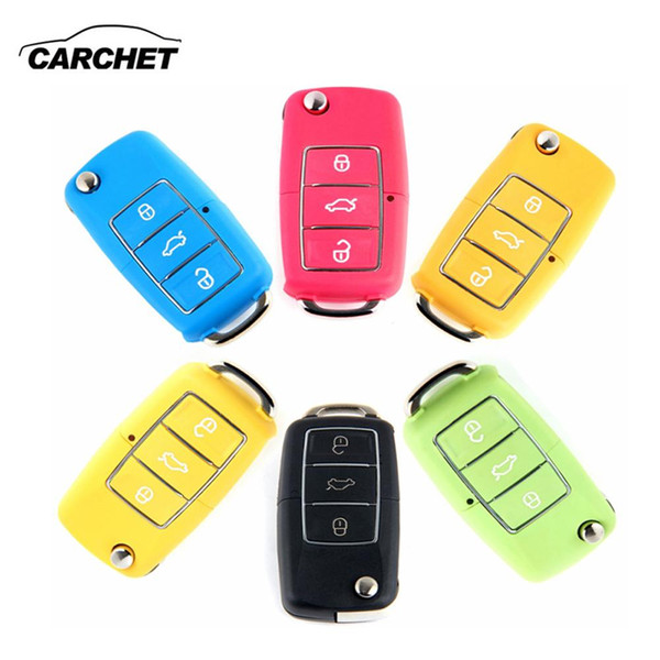top popular 3 Button Remote Key Switch Shell Folding Controller Fob Case Cover Box for VW Volkswagen Bora Beetle For Polo Passat car 2021