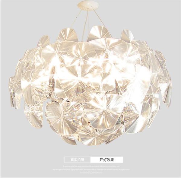 Moderne LED Kristall Kronleuchter Lampe Glas Kunst Kronleuchter Licht  Blattform Platten Blume Pendelleuchte Für Foyer Hotel Restaurant Coffee Shop