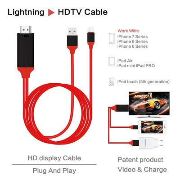Evrensel HDMI Adaptör Kablosu HDTV 3 1 USB kablo Konektörü Samsung Galaxy S8 Kenar Not 5 perakende kutusu ile Iphone 8 X LG G4 Ipad Air2