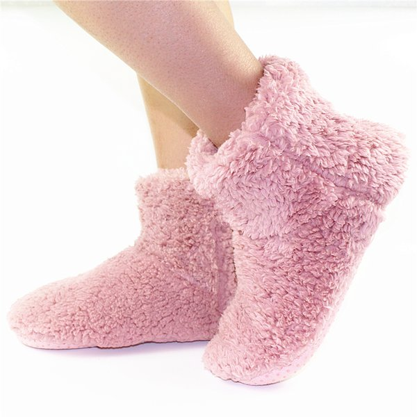 Large Size Winter Women's Slippers for Ladies Double Thick Design Warm Pink Plush Soft Sole Indoor Floor Home&House Shoes Women