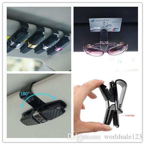 Vente chaude Auto Portable Fixation Cip Auto Accessoires ABS Voiture Véhicule Pare-Soleil lunettes de Soleil Lunettes Lunettes Titulaire Clip Clip