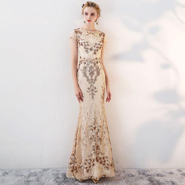Compre Vestido De Noche Largo De Sirena 2018 Vestido De Noche De Sirena Largo 2018 Vestidos De Noche Elegante Largo Vestidos De Fiesta De Baile Robe