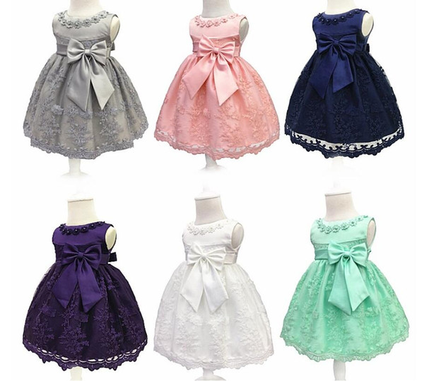 2018 New Princess Toddler Baby Girl Infant Princess Lace Tutu Dress Baby Girl Wedding Dress Kids Party Vestidos for Baby
