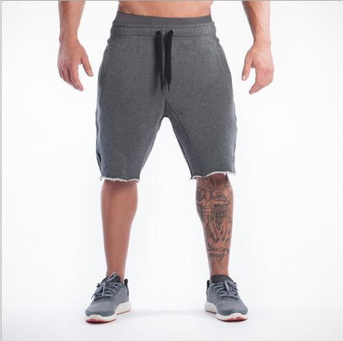 Brand designer -Men Gym Shorts Casual Mens Tracksuit Sports Bottoms Cotton Fitness Workout Skinny Joggers Running Shorts Outdoor New