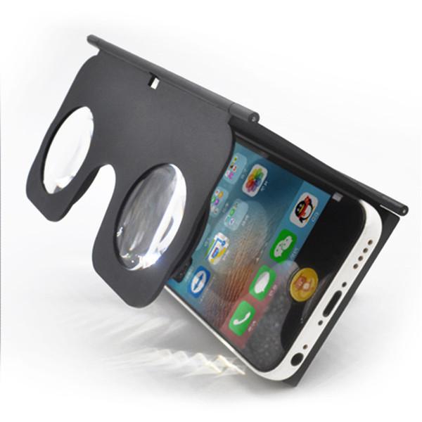 Anteojos VR con funda, mini realidad virtual portátil 3D para teléfono mibile con modo izquierdo y derecho, para películas en 3D para teléfono móvil