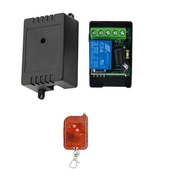433mhz DC12V 12 V 1 CH Channel Wireless RF Remote Control Light Switch 10A Relay Output Radio Receiver Transmitter garage door