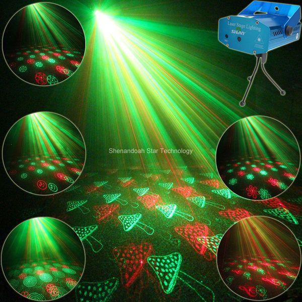 Mini Red Green Laser 24 Patterns projector Club Bar Dance Discoparty Xmas DJ Stage Light show Y24 + Tripod
