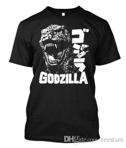 2018 Short Sleeve Cotton T Shirts Man Clothing Godzilla Scream navy tshirt Custom T-Shirt TeeShort Sleeve Hipster Tees