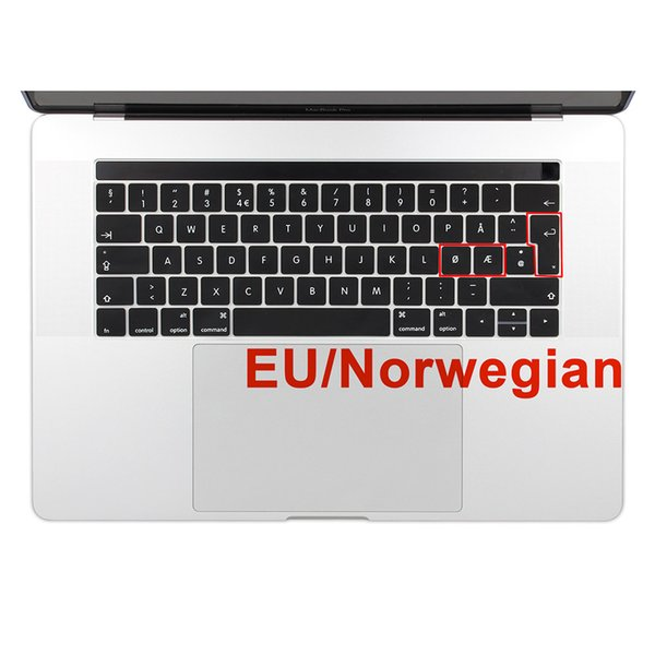 EU Enter Norwegian Silicone Keyboard Cover Keypad Skin for New MacBook Pro 13 15 Retina 2016 & 2017 with TouchBar A1706 A1707