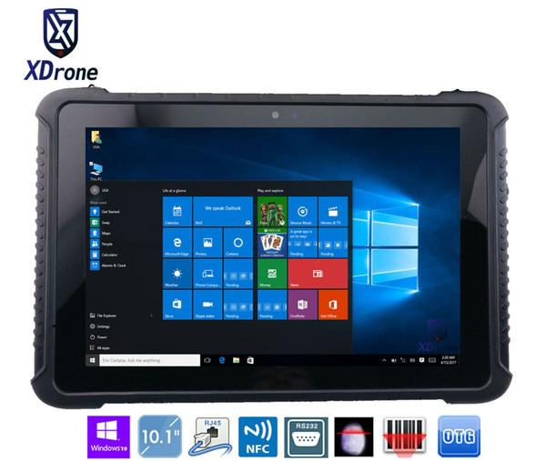 China K16H schroffer Tablette PC 10 Zoll Windows 10 Haupt-Z8350 IP67 imprägniern Stoß-androiden 4G LTE Fingerabdruck RS232 RJ45 GPS