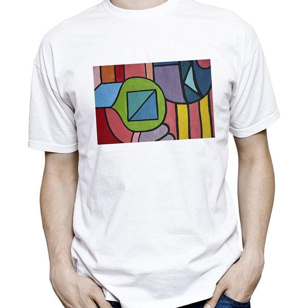 Black Memory Men's Street Art Classic Geometric Graffiti Graphic Printed T-Shirt