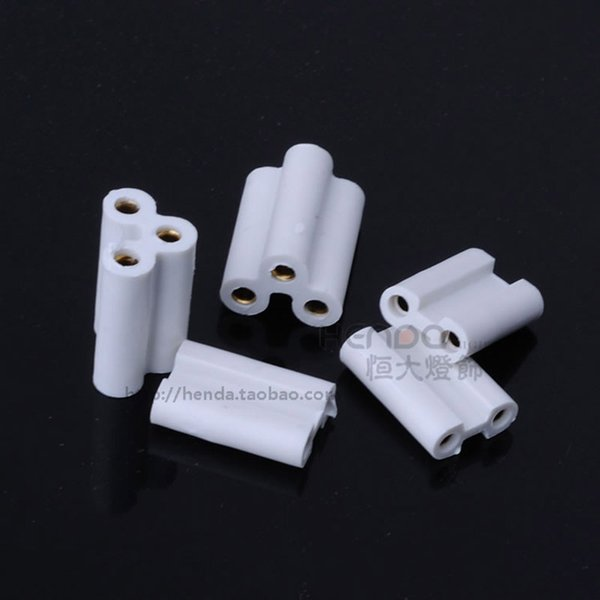 T4 T5 Plug Connectors Accessories for Bracket Light 2 Holes 3 Holes Extended Jack Middle Docking Plug