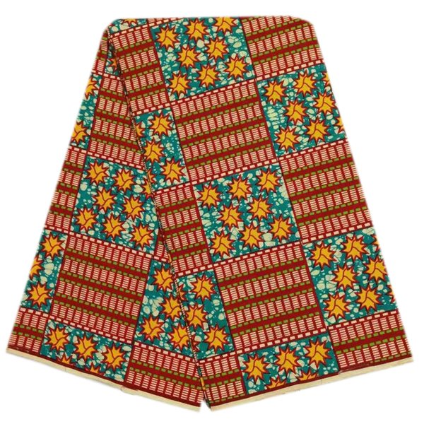 veritable Hot sale nigeria kente wax style african wax fabric wax hollandais prints fabric african sewing for dress 6 yards/piece