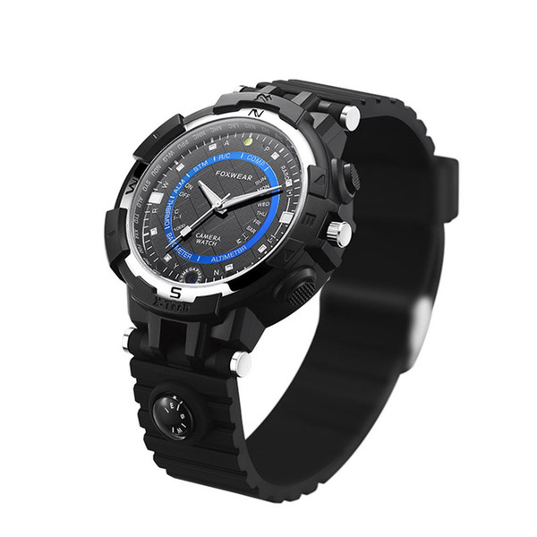 FOX8 16/32GB Capacity Daily Waterproof WiFi Camera Smart Watch With Compass, Support Remote Control / Voice-Record 2018 New