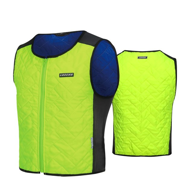 Motorcycle Water Cooling Vest Summer Racing Water Storage Cooling Vest Moto Motocross LYSCHY HypeiKEWL Fluorescent Green