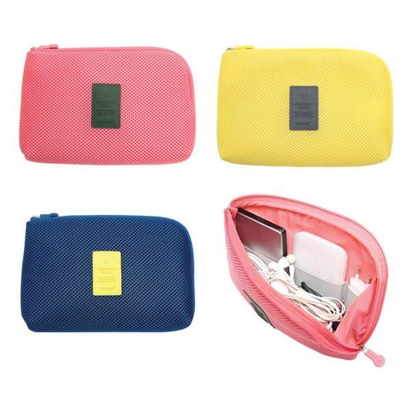 Organizador Portátil Saco De Armazenamento Caso Dispositivos de Aparelhos Digitais Cabo USB Caneta Fone De Ouvido de Viagem Kit de Sistema de Inserção Cosmética