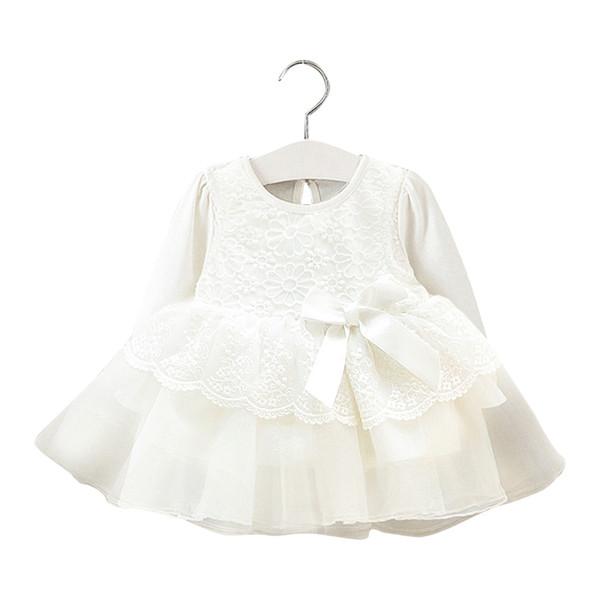Girls Lace Dress Summer Flore Children Clothes Dress long sleeve Kids Mesh Princess Cute Girls Clothing