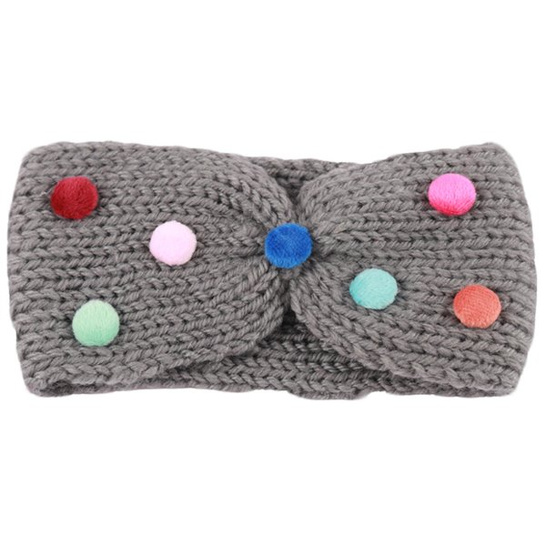 Soft Warm Earmuff Knitted Headband For Girl Kid Winter Outdoor Colorful Elastic Hairband Headwear Hair Accessories