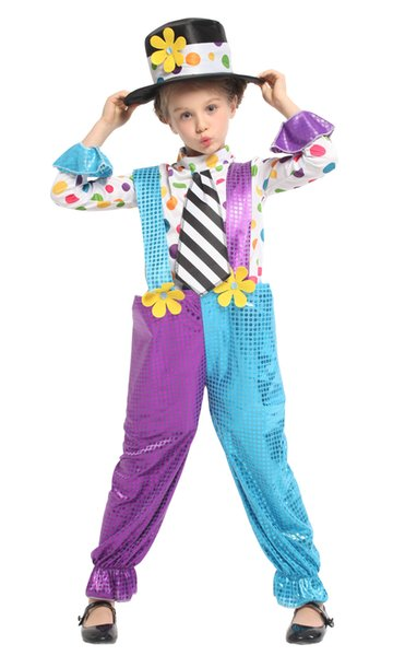 Shanghai Story Girl's Clown Costumes Children Funny Circus Clown Fancy Party Costume Halloween Female Cosplay Costume