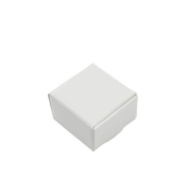 50pcs / Lot 4*4*2.5 см небольшой белый крафт-бумага подарочная упаковка коробка для ювелирных изделий DIY мыло выпечки хлебобулочные торты печенье конфеты коробки для хранения