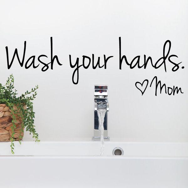 Großhandel Aufkleber Nikon Badezimmer Wandaufkleber Wash Your Hands ...