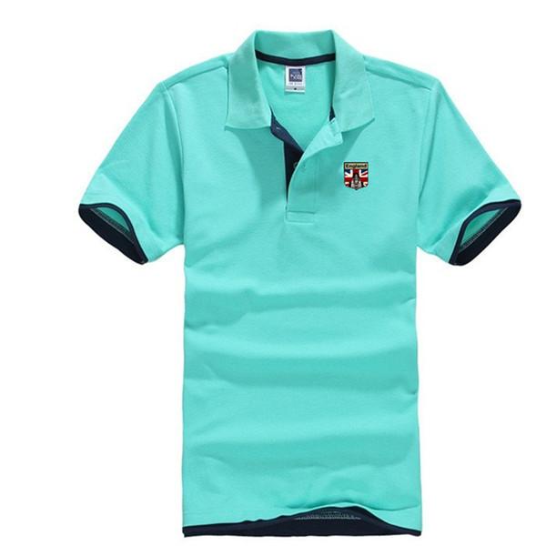 Acheter Livraison Gratuite Imprimer Drapeau Angleterre Chemises De Couleur Pure Casual Chemise à Manches Courtes Revers Marque Hommes S Gros De 2163