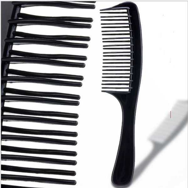 Insert Afro Hair Pick Comb Wide Comb Teeth Fork Brush for Curly Hair Plastic High & Low Gear Comb Hair Styling Tools