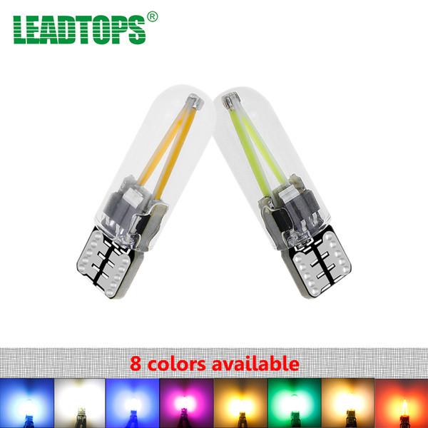 Neueste 2 stücke T10 LED 194 W5W COB Glas Auto Licht LED Filament Leselicht Dome Trunk Lampe DRL Auto Styling 12 V AE