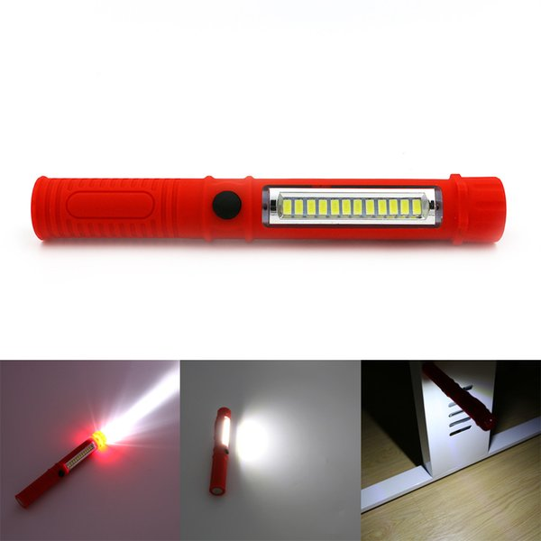 Led Night Light Flashlight Led Torch Lantern Work Light 13 Portable Led Lights Camping Bicycle Lamp With Built -In Magnet Clip