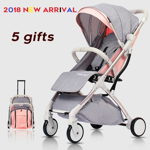 2018 New Arrival Lightweight Baby Stroller Portable Travel Baby Car Carriage Buggy Infant Trolley Kids Pram Carbin Strollers