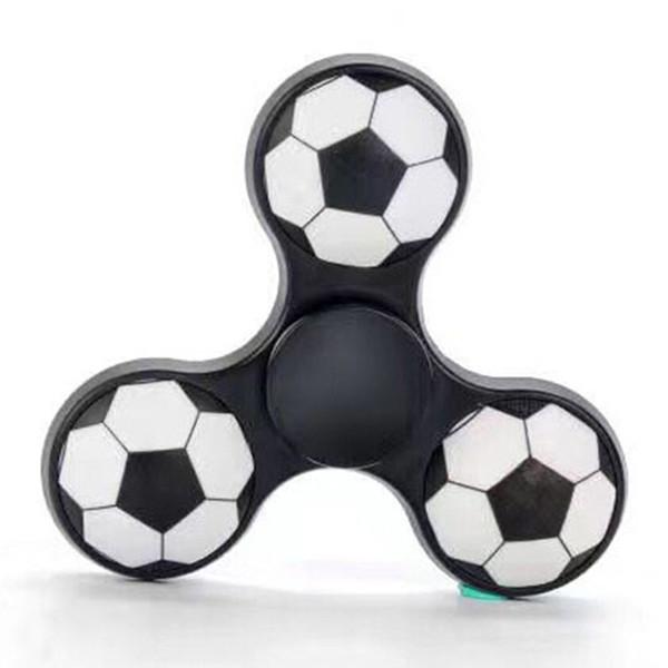 Rusya Futbol Handspinner Parmaklarınızın Spiral Gyro Üçgen Torqbar Fidget Spinner Parmak ABS Voleybol Basketbol El Spinner