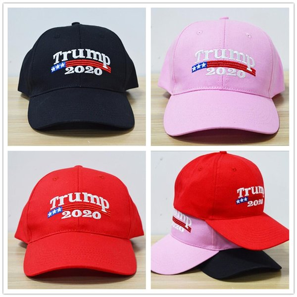 50 pcs Bordado Trunfo 2020 Fazer América Grande Novamente Donald Trump Bonés de Beisebol Chapéus Bonés de Beisebol Adultos Esportes Chapéu R161