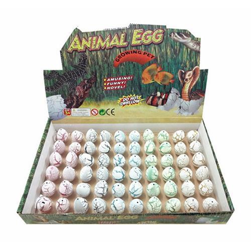60 Pcs Hatching Magic Growing Pet Dinosaur Kit Excavation Egg Inflatable Toys