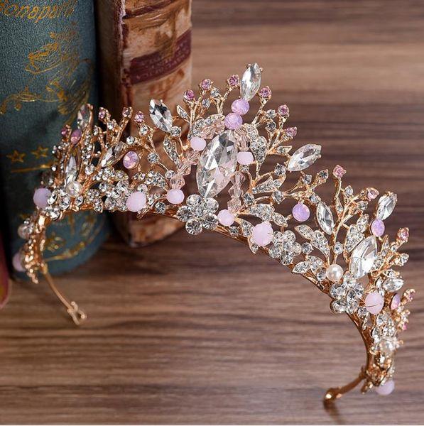 New bridal headwear, Korean style diamond, handmade beads, bridal crown hoop