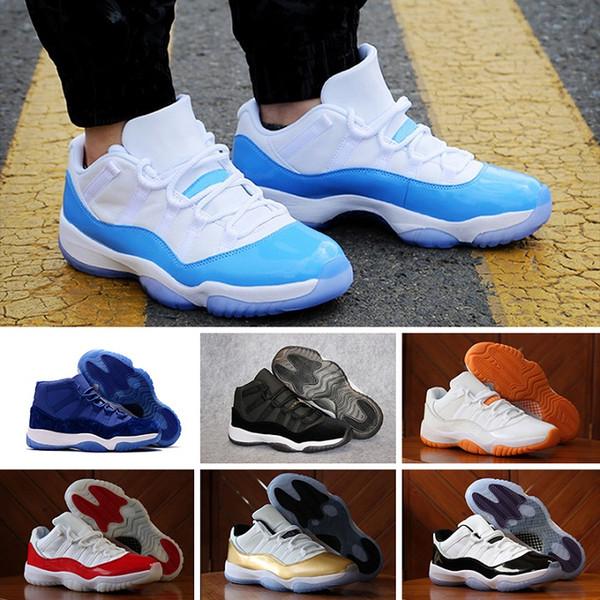 cheap for sale more photos arrives Acheter NIKE Air Jordan 11 Retro Designer Shoes Avec Box Haute Qualité 11  Space Jam Bred Concord Basketball Chaussures Hommes Chaussures Femmes 11s  ...