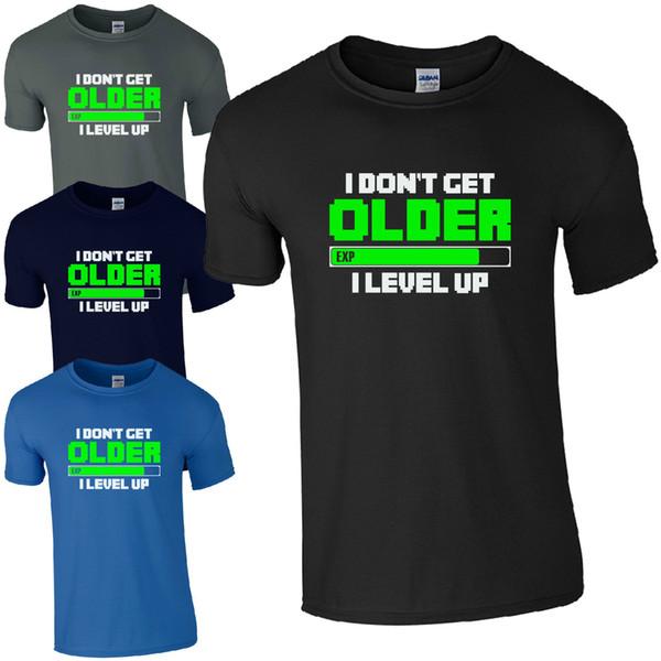 Ich werde nicht älter Ich nivelliere T-Shirt - Lustige Gamers inspiriert Kinder Männer Geschenk Top Cool Casual Stolz T-Shirt