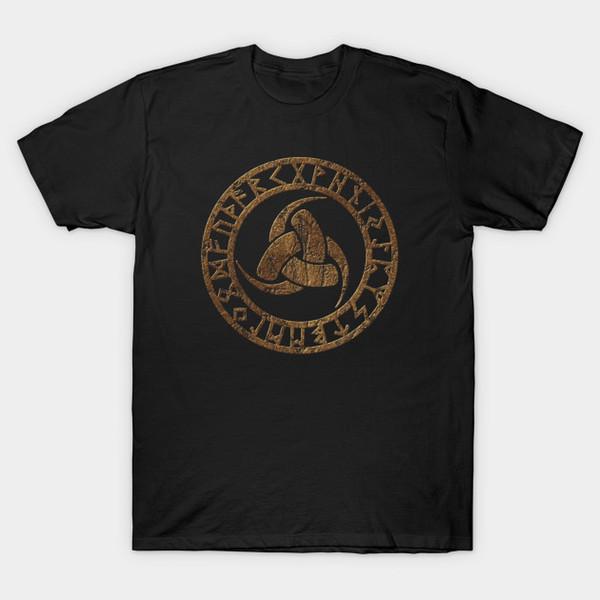 Triple Horn Of Odin Runes Viking Norse Symbol T Shirt Vintage